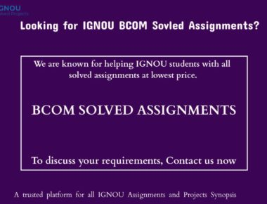 BCom Solved Assignments