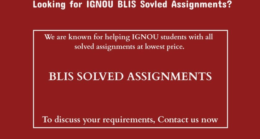 How To Get Good Marks In IGNOU BLIS Assignments