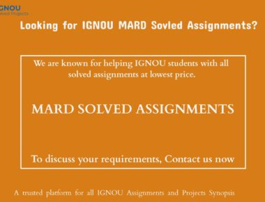 MARD Solved Assignments