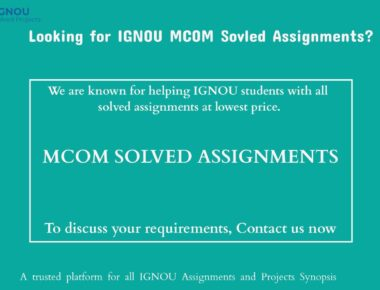 MCOM Solved Assignments