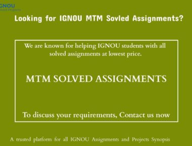MTM Solved Assignments