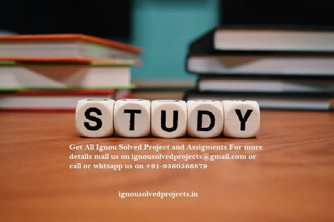 How To Get IGNOU MBA Solved Projects And Synopsis